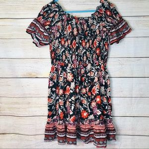 Nwt Band of Gypsies floral off the shoulder dress
